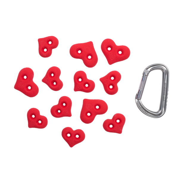 irginGrip-Climbing-Holds-Set-The Hearts - Footholds top